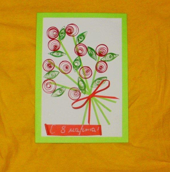Простые открытки на 8 марта маме