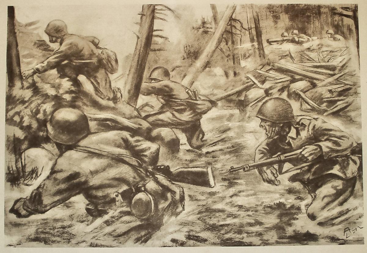 2 мировая война картинки карандашом, влюбилась