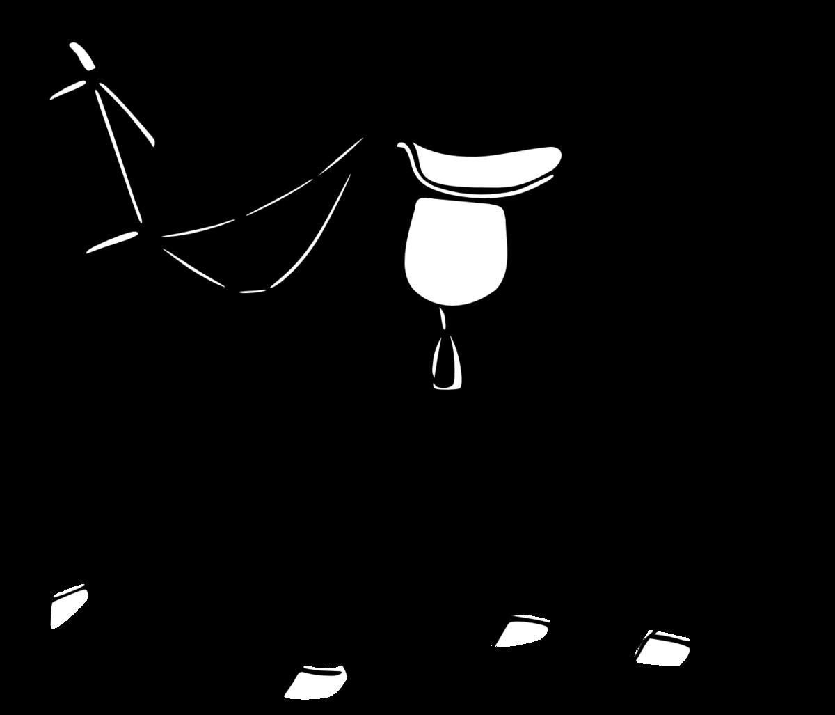 Картинка черно белая конь