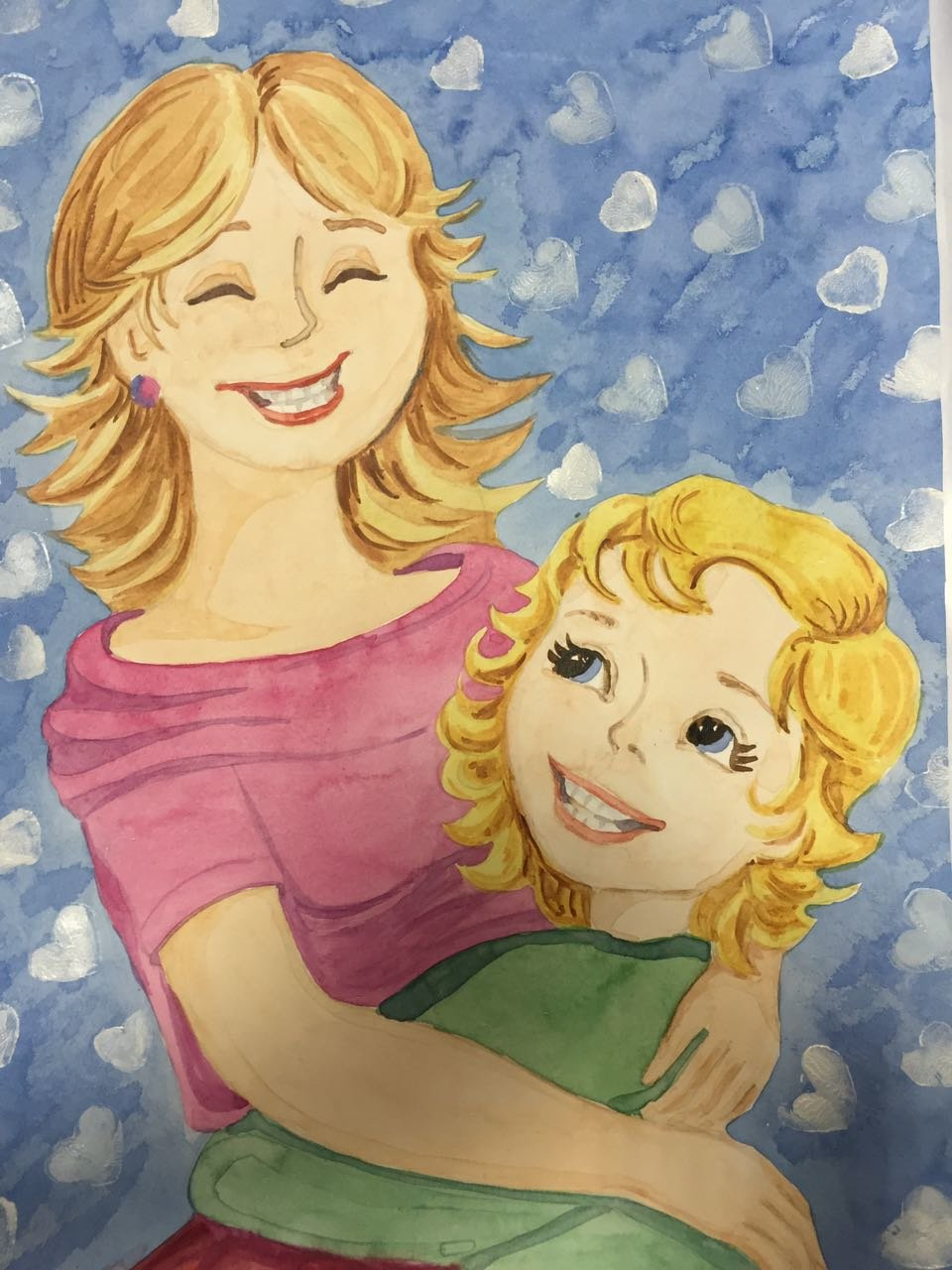 Открытка портрет для мамы