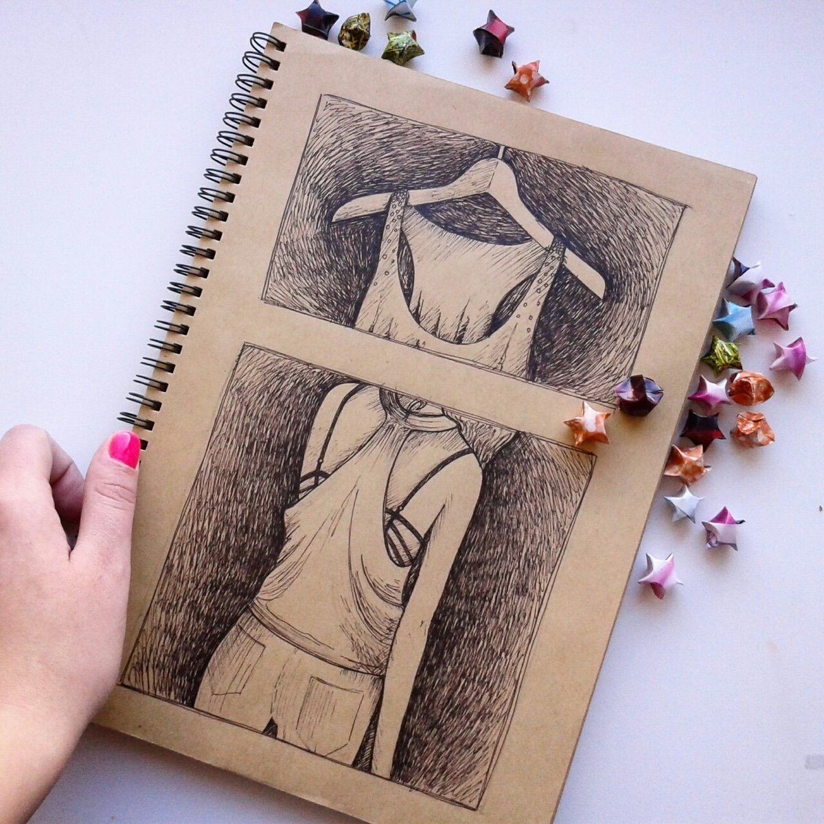 Крутые рисунки в блокноте
