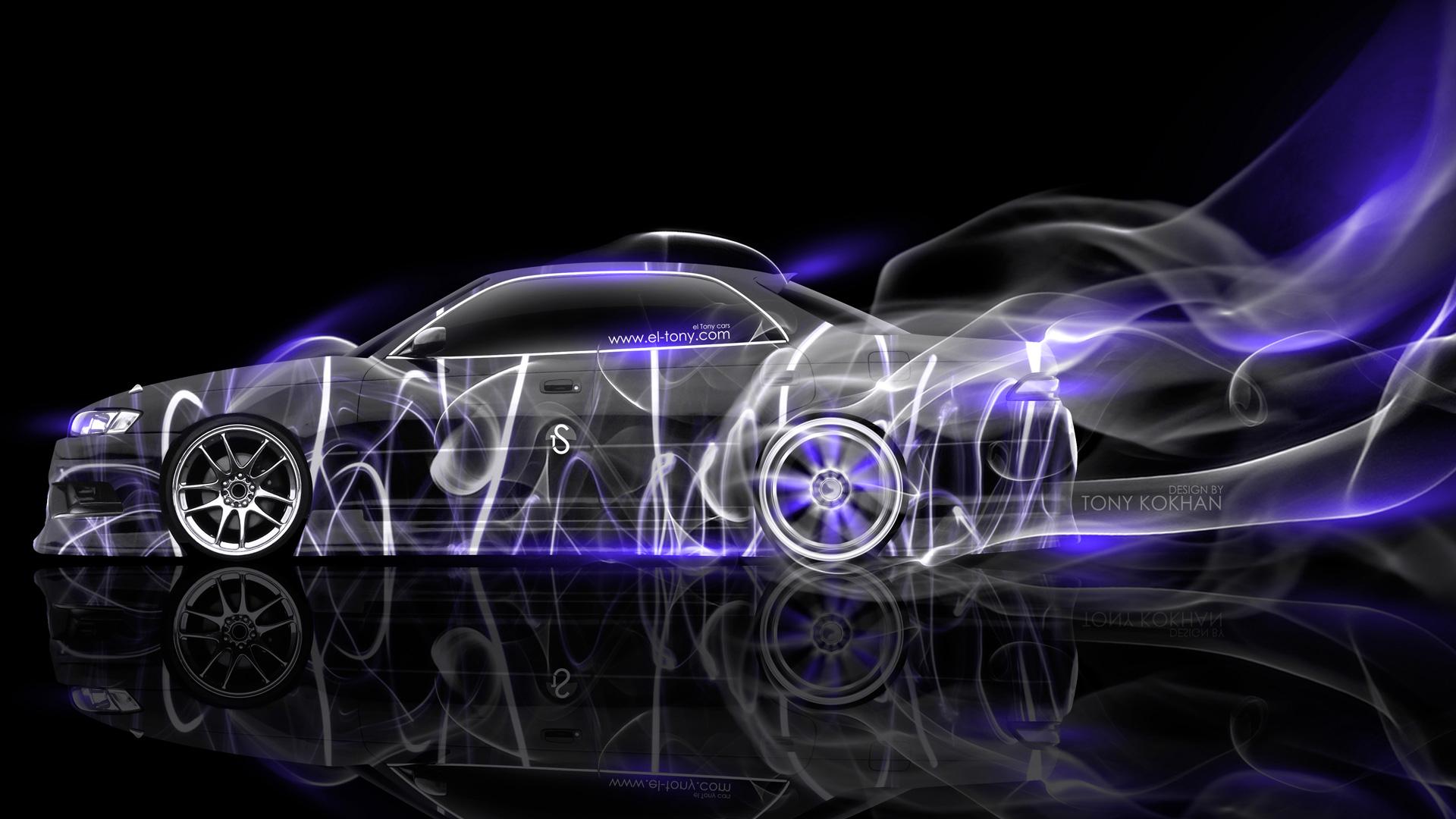 Toyota Mark 2 JZX90 JDM Super Smoke Drift Car 2014 Photoshop Violet ...