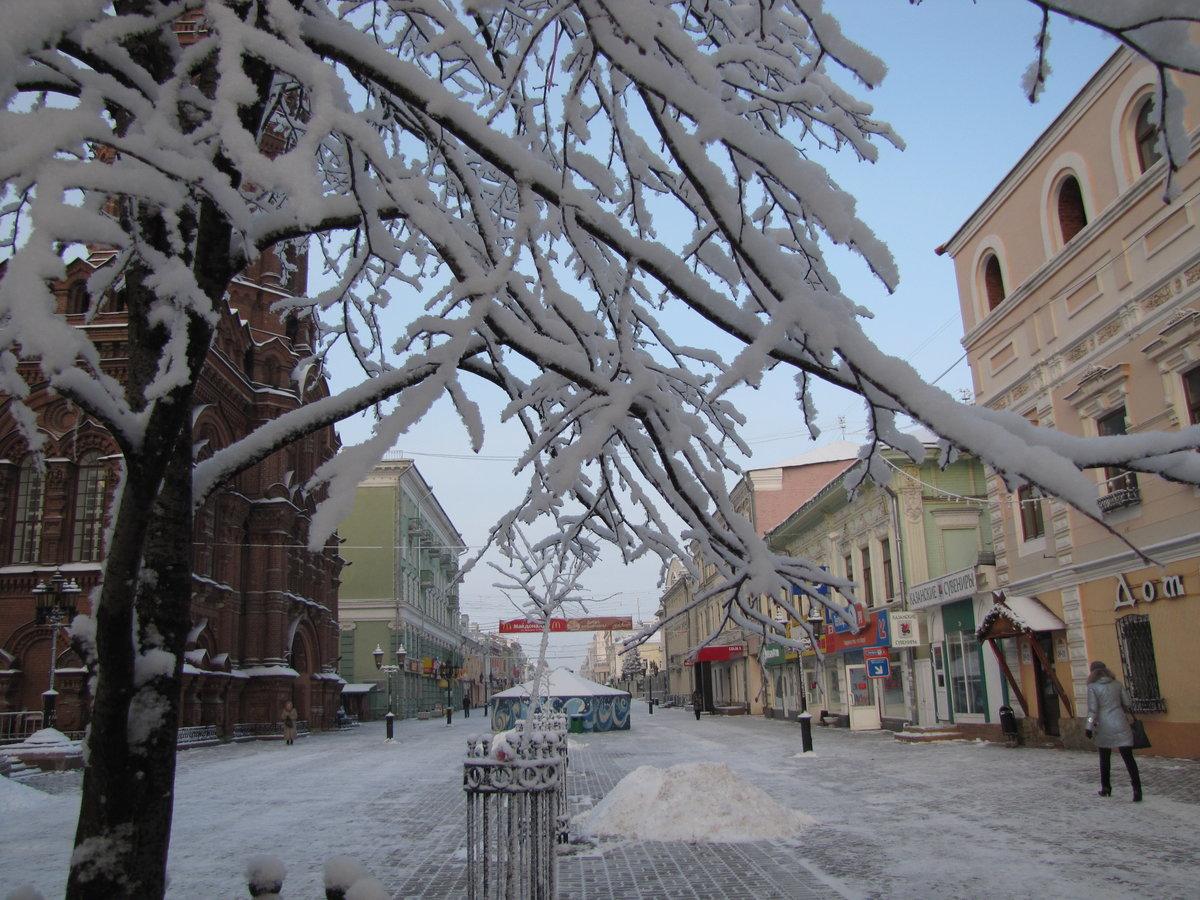 фото зима в казани ул баумана стиль, несмотря