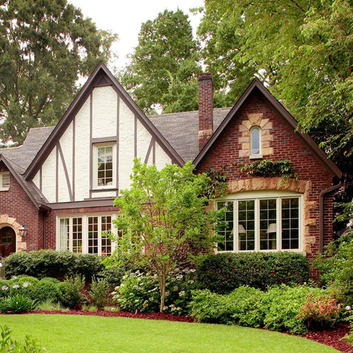 дачный дом в английском стиле фото зеленовато-сероватая