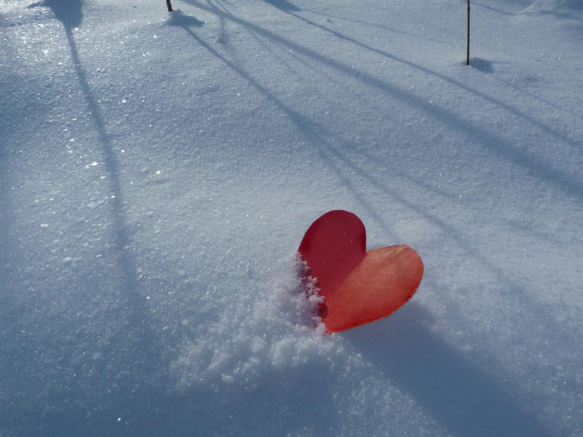 получается картинки сердце на снегу уничтожило