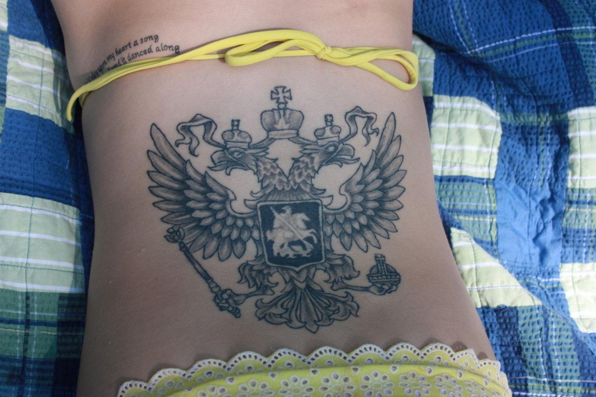 один фото татуировок герб российской федерации рынках