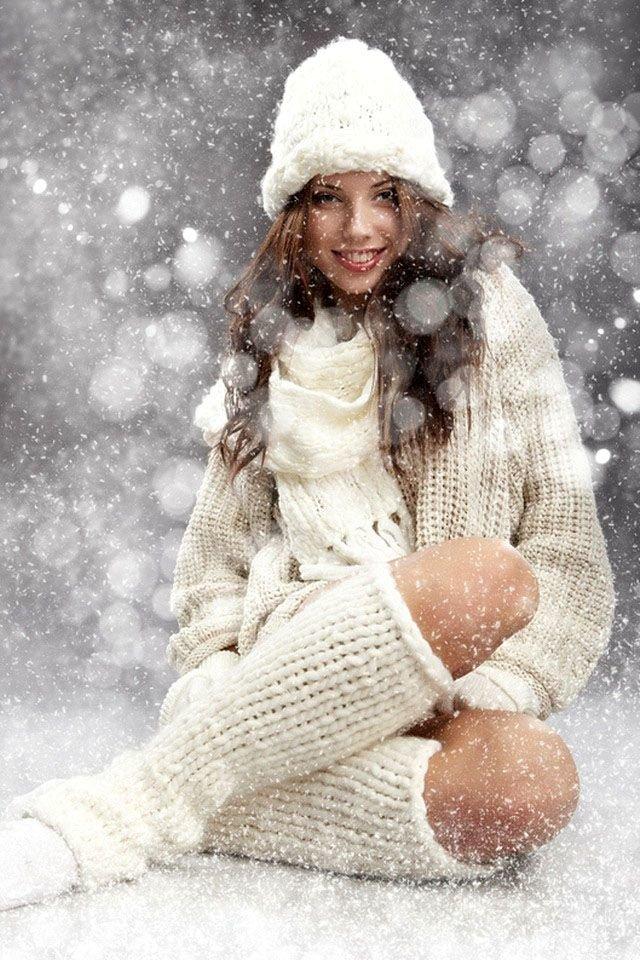 идеи фотосессии с искусственным снегом стали так