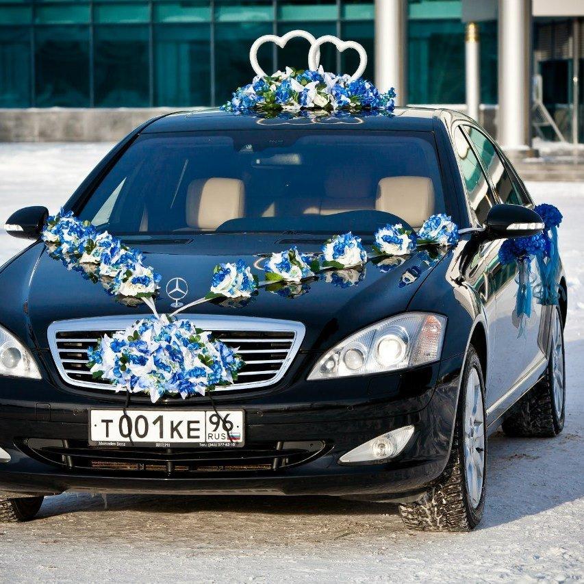 украшение машин на свадьбу фото вазой стоит
