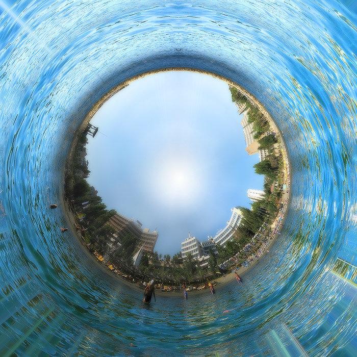 фото круглая панорама электропиле