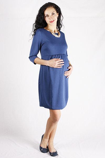 dad2480b3b1f Платье для беременных из фактурного трикотажа синее » — карточка ...