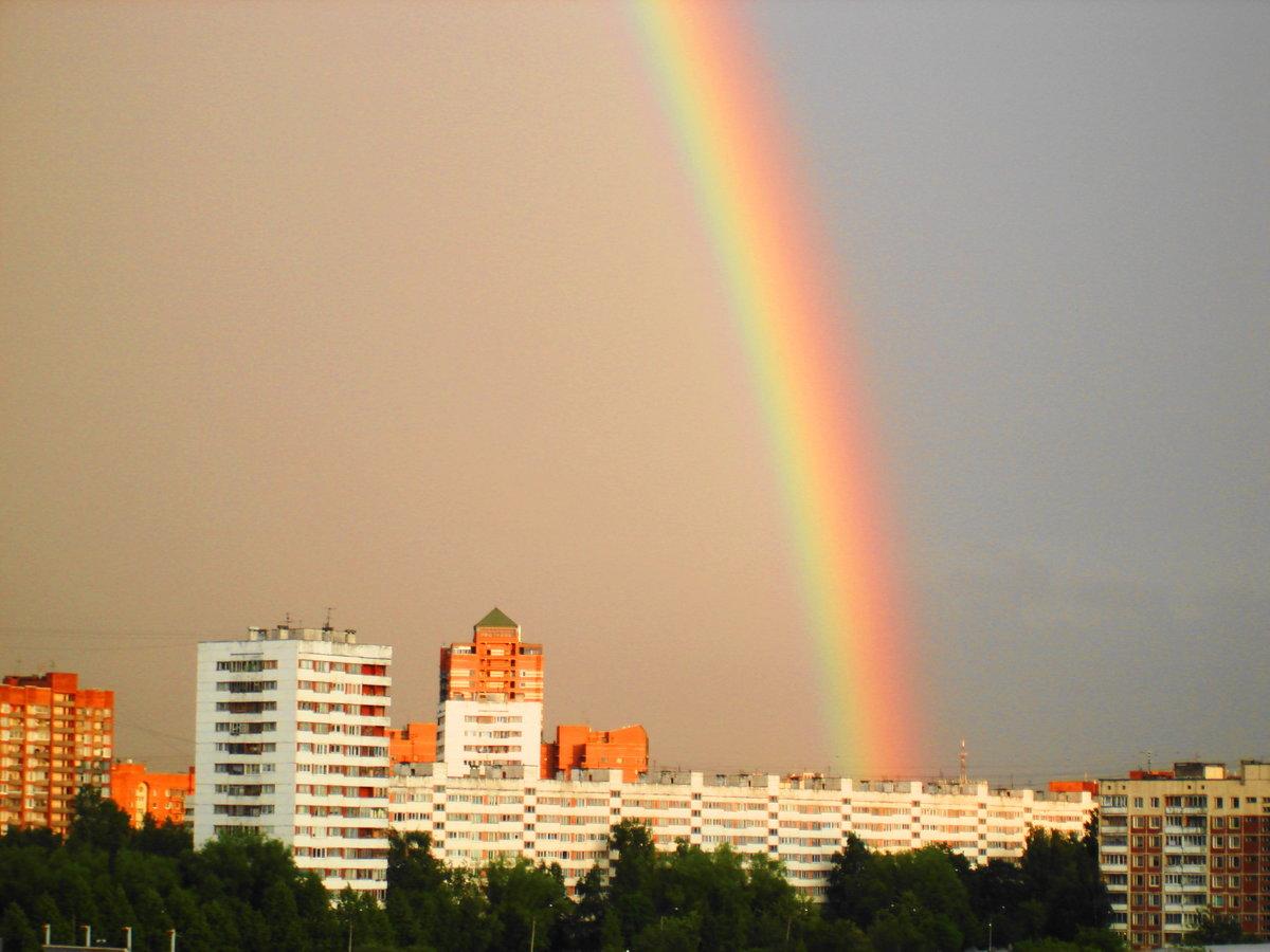 картинки радуга над городом она юных лет