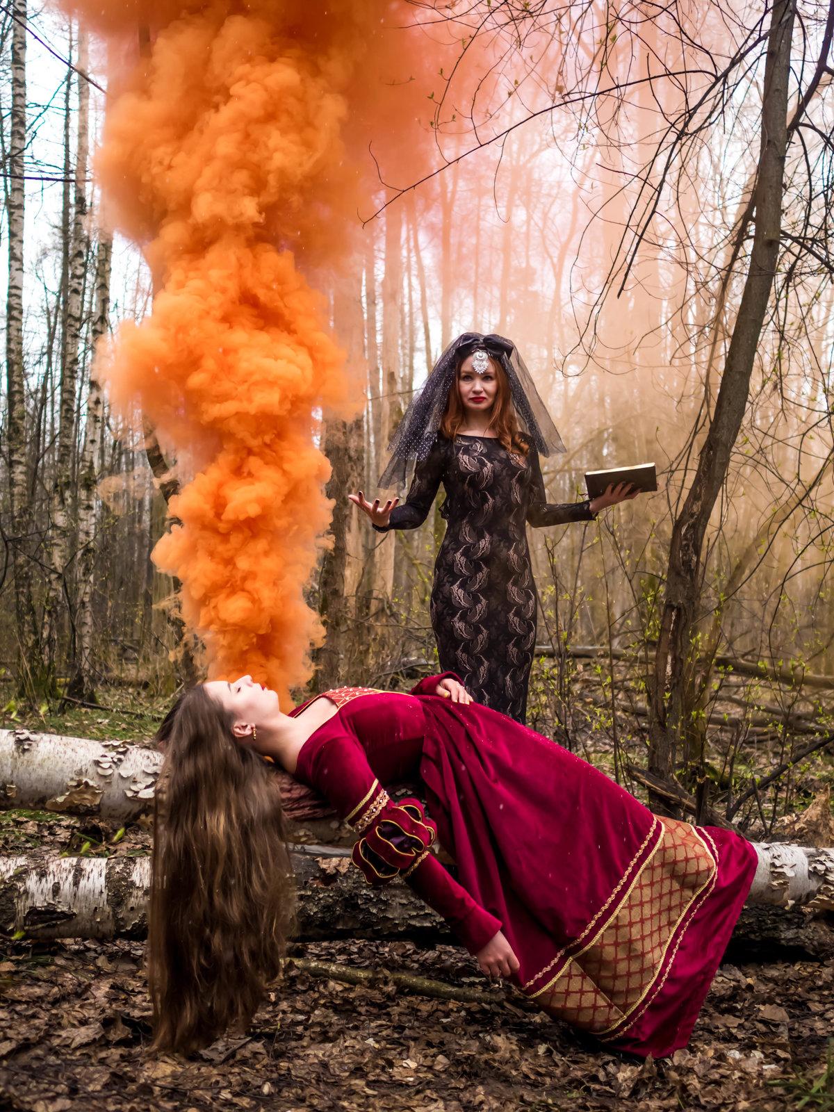 Фото с цветным дымом идеи