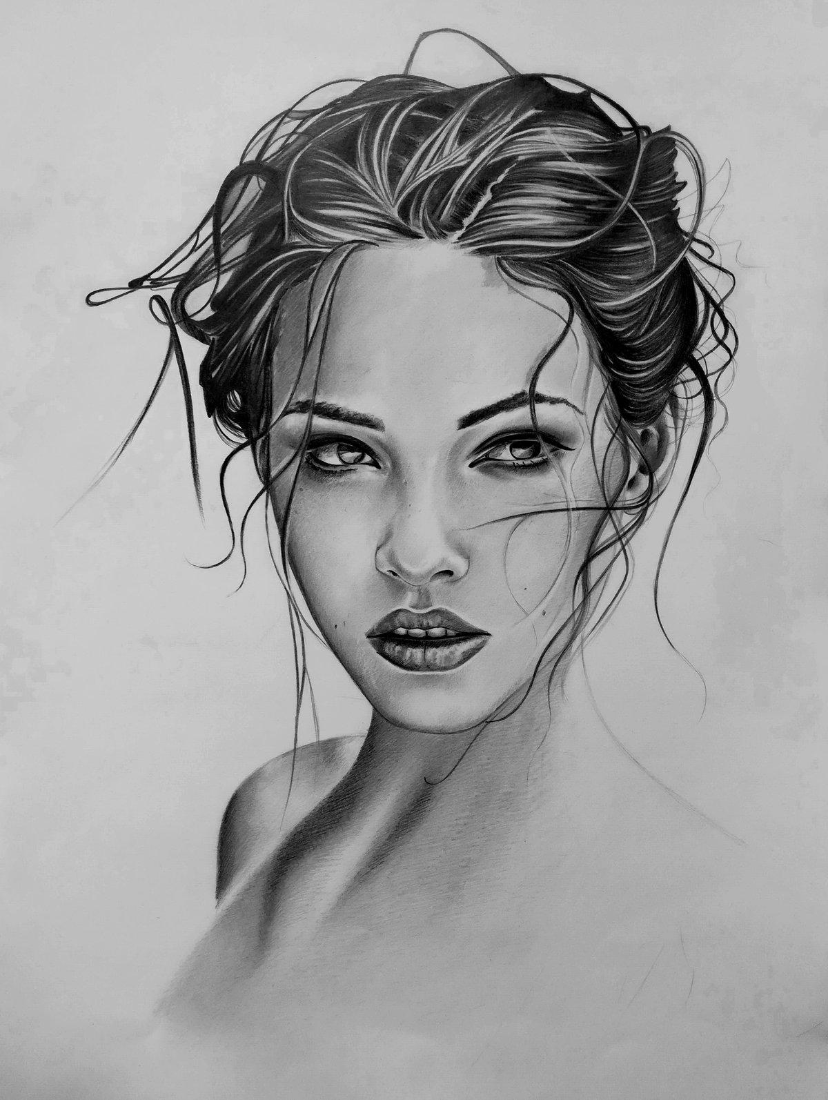Сладких, рисунок карандашом девушки