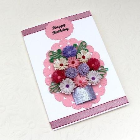 Красивая открытка своими руками любимой тете, днем рождения девочке