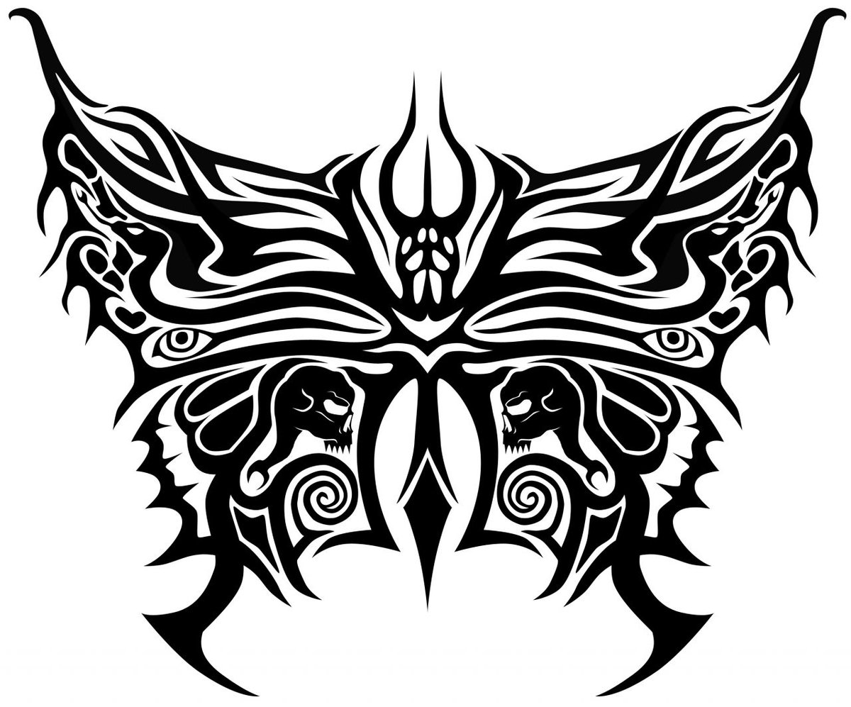 tribal butterfly tattoos - HD1200×997