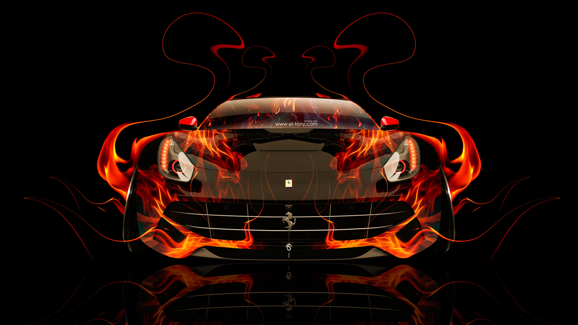 Ferrari F12 Berlinetta Front Fire Abstract Car 2014 HD Wallpapers ...