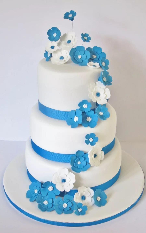 Меняющейся, картинки свадебного торта в синем цвете