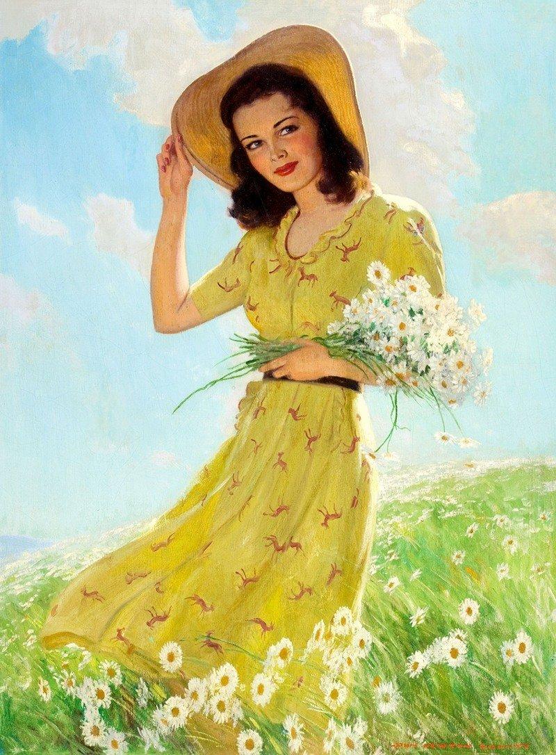 Открытки, красивые открытки с изображением женщины