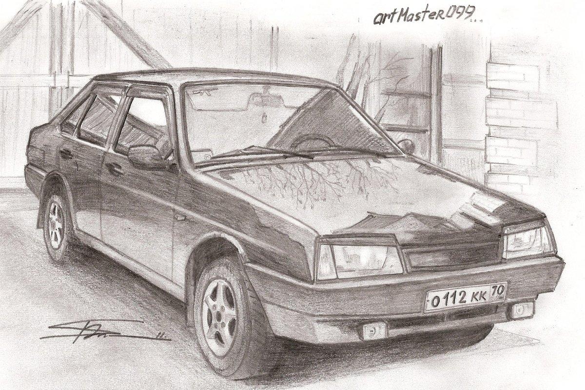 картинки рисовать машины ваз случайно многие