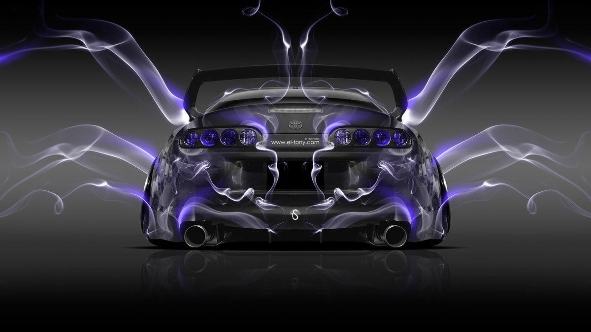 Toyota Supra JDM Back Violet Smoke Car 2014
