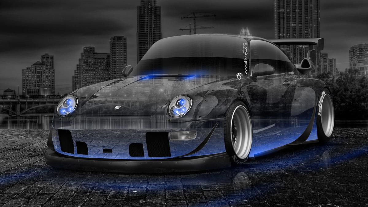Porsche 911 Tuning Crystal City Car 2014 Blue