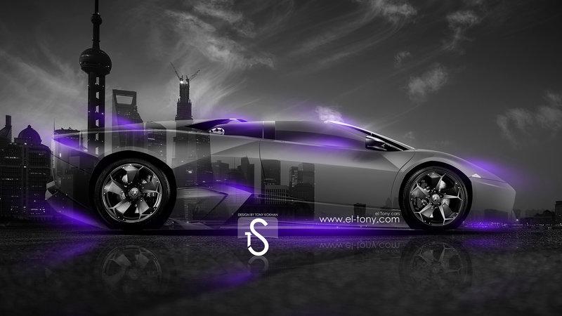 Lamborghini Reventon Roadster Crystal City Car 2014 Violet