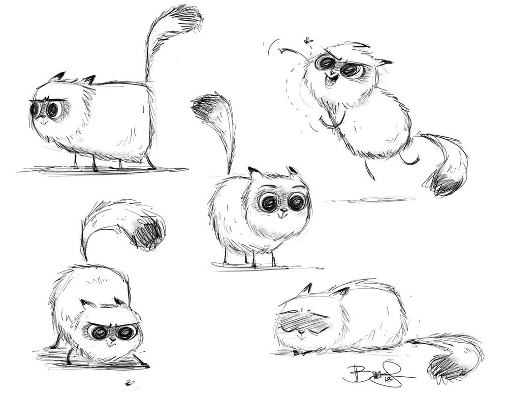 Котики карандашом смешные