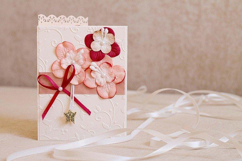 Открытка с цветами своими руками на свадьбу