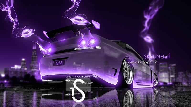 Nissan Skyline GTR R33 Crystal City Violet Energy