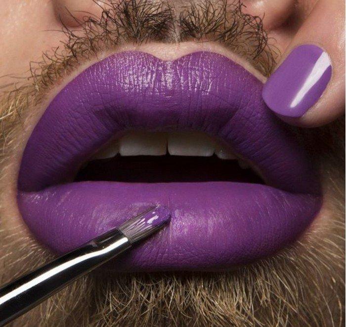 фиолетовый цвет помады фото оборудование цоколя повлечет