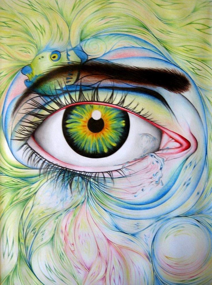 Радостные глаза рисунок