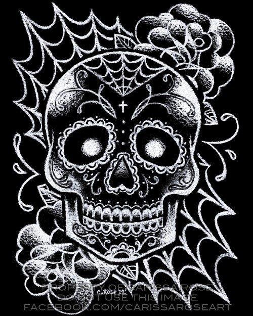 Картинка черепа с узорами