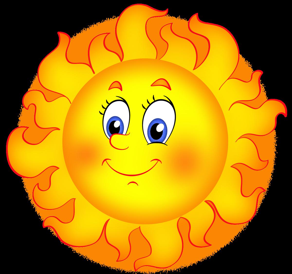 Картинка веселого солнца