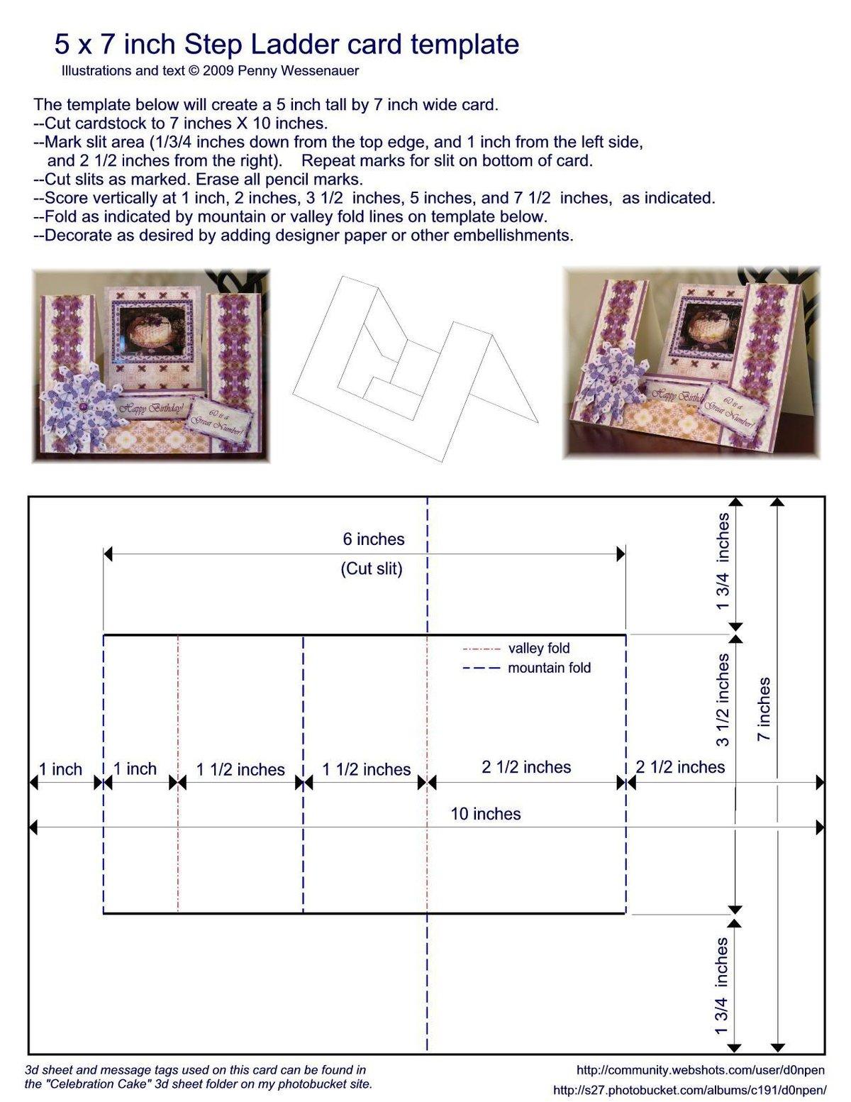 Формы открыток схема