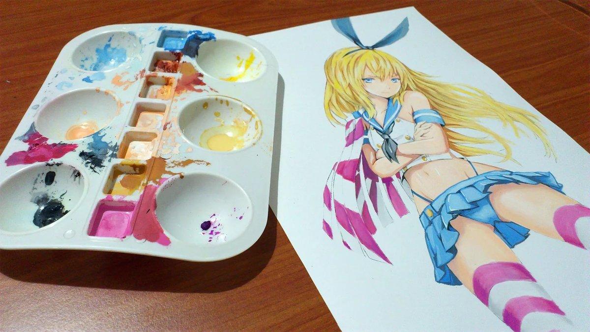 Рисунки аниме краски