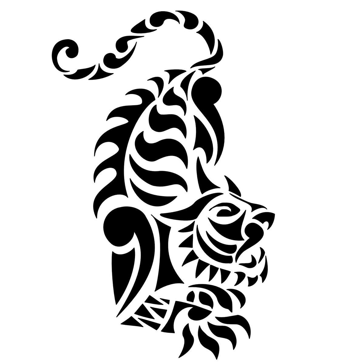 tribal tiger designs - HD1200×1200