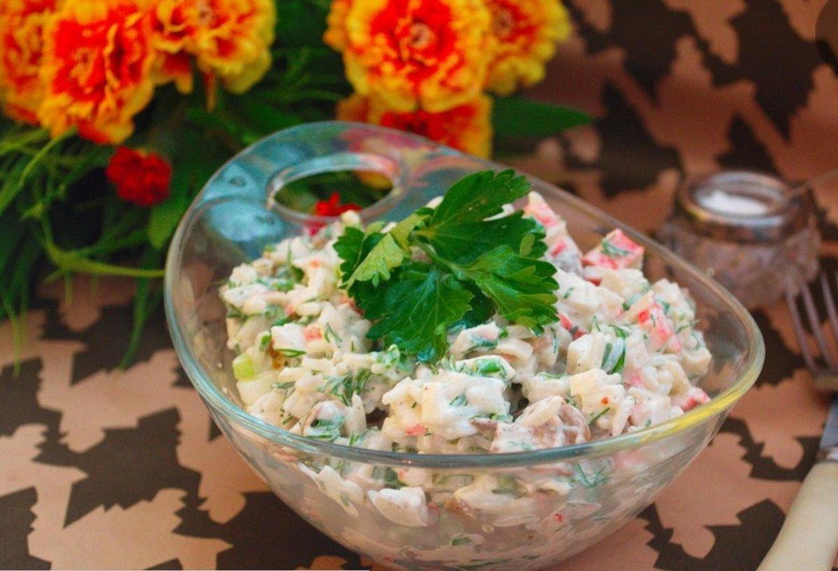 простые салаты из риса рецепты с фото таким
