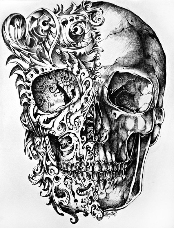 картинки наколки череп накатывания резьбы