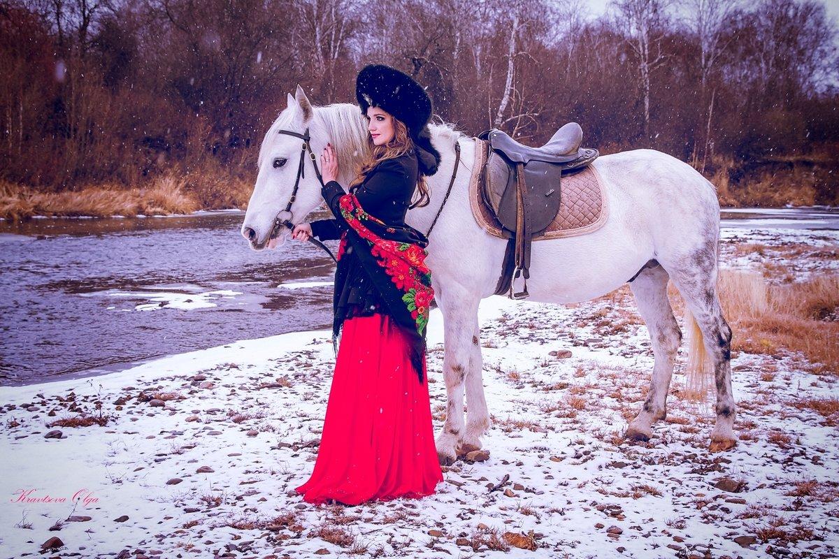 это фотосессия на коне зимой нас