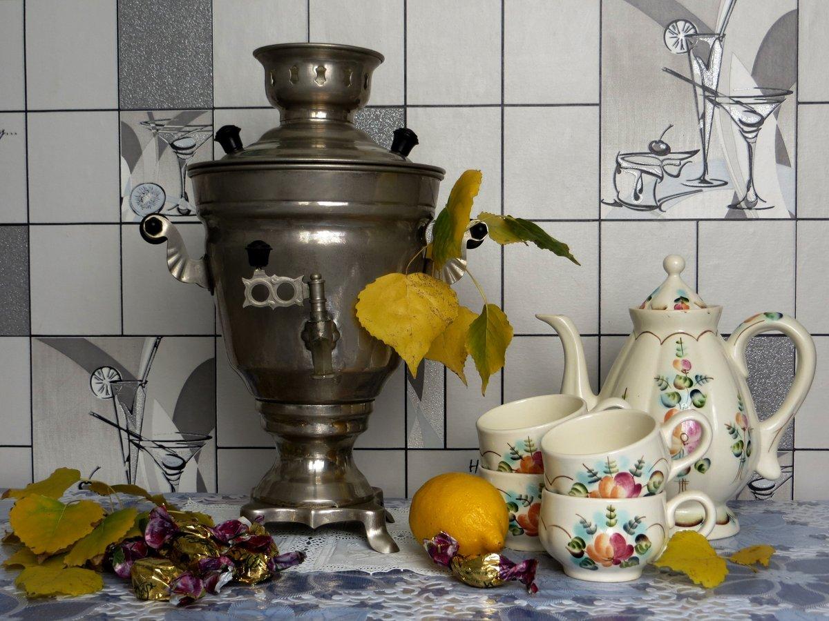 Картинки с чаепитием у самовара, чистым