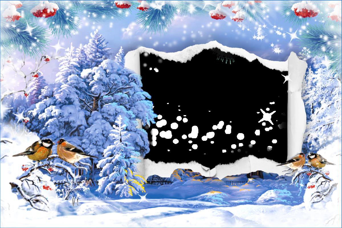 неповторимый шаблон открытки зима для