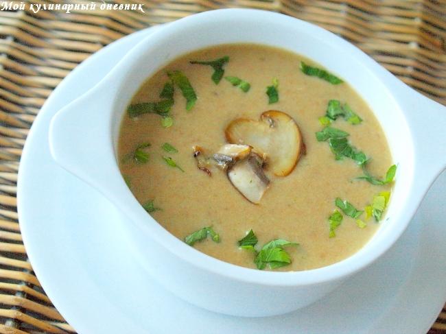 Картофельно грибной суп пюре