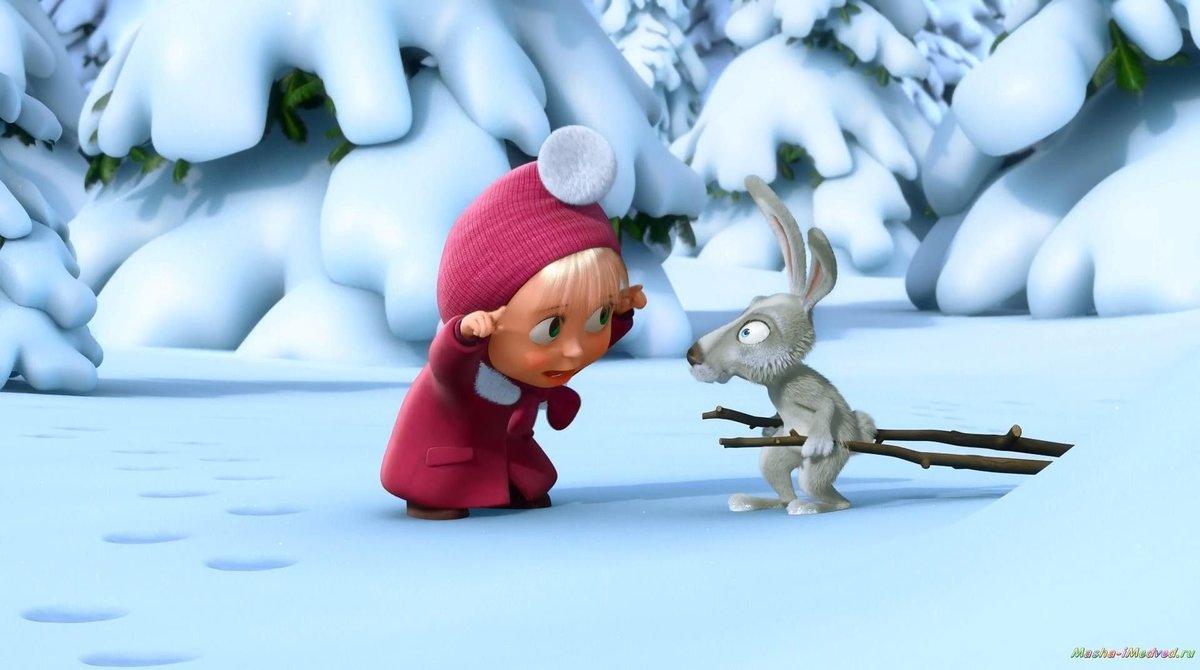 Зима в мультиках картинки