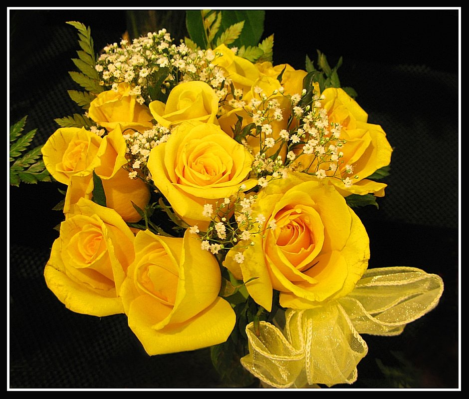 Открытки с желтыми розами с днем рождения