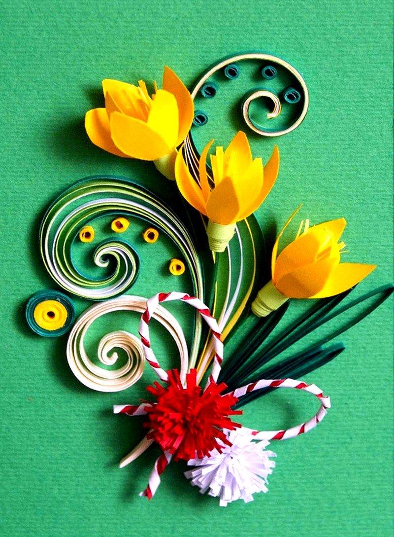 Как сделать красивую открытку с 8 марта