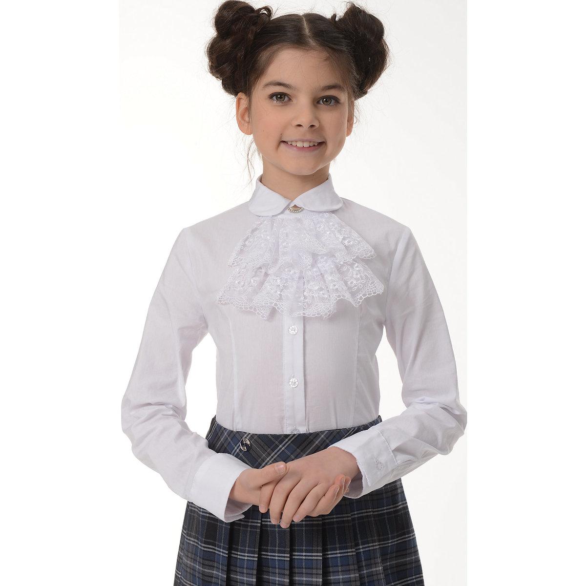 купить белую блузку девочке