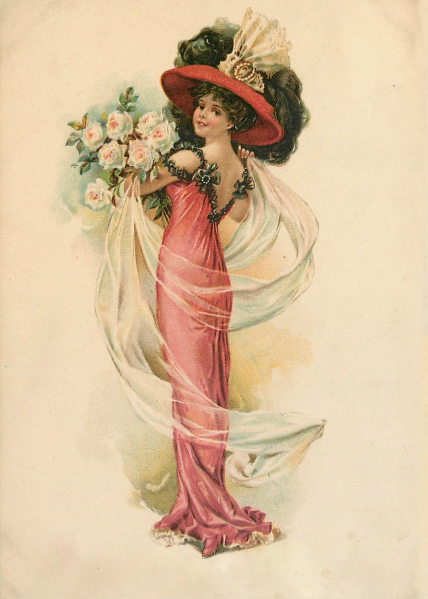 Портретами, ические открытки для женщины