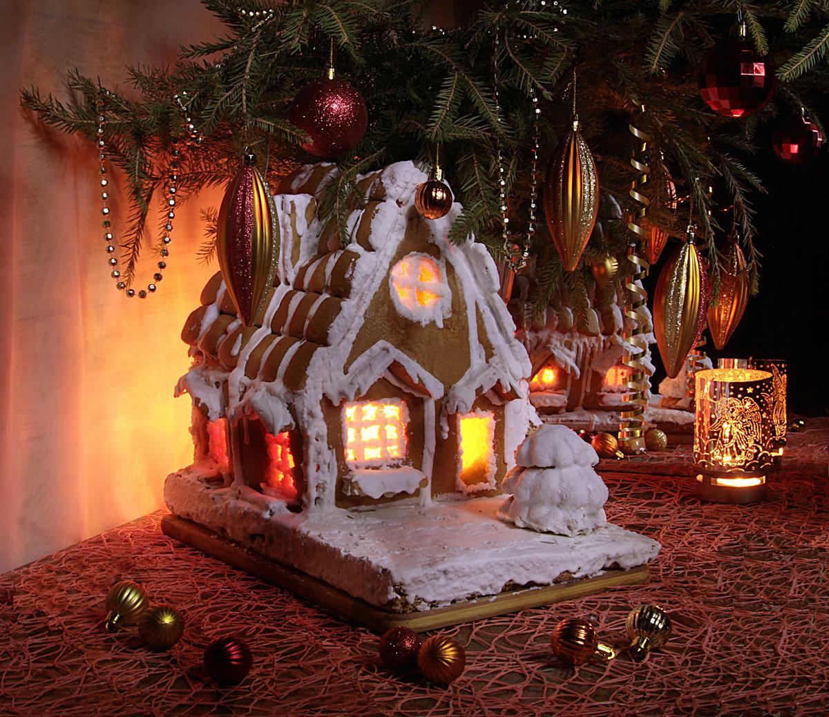 оформление лесного домика новогоднее фото плюсы минусы