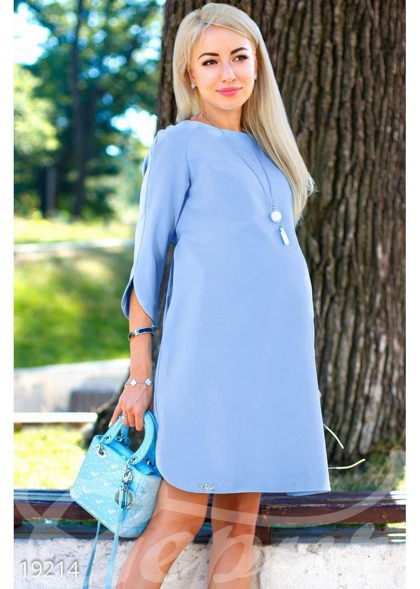 8d5cc5e3665e Офисные платья для беременных нежно светло синее» — карточка ...