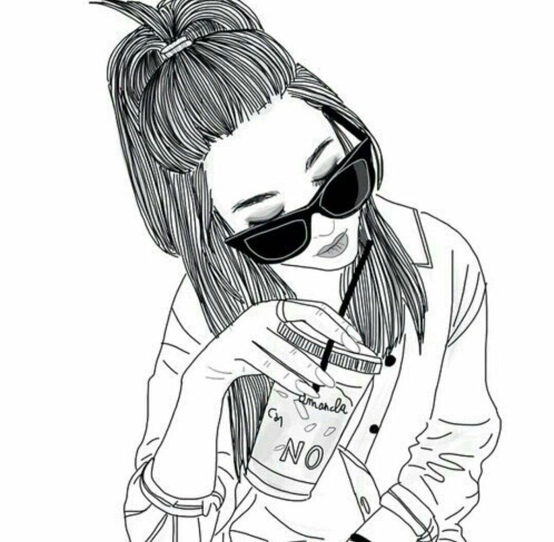 Прикольные картинки девушек карандашами на аву